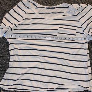 Brandy Melville Tops - like new Brandy Melville white striped top 6/$14